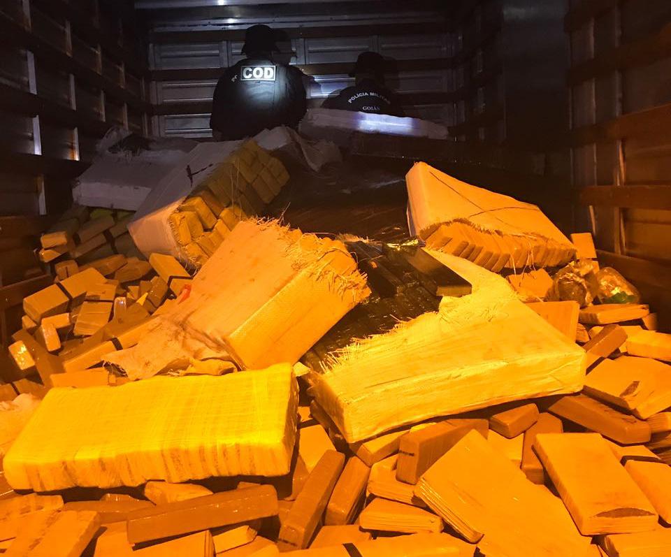 Operação integrada apreende três toneladas de maconha em Goiás