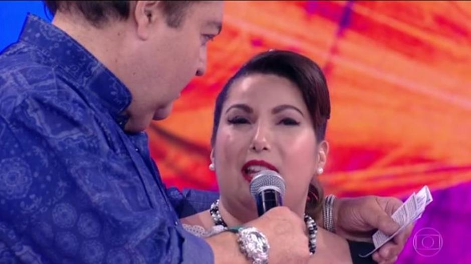 Faustão é criticado por comentário sobre peso de Mariana Xavier