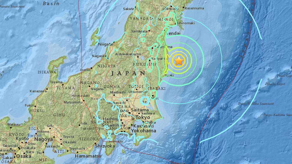 Terremoto de magnitude 6,1 atinge a costa do Japão