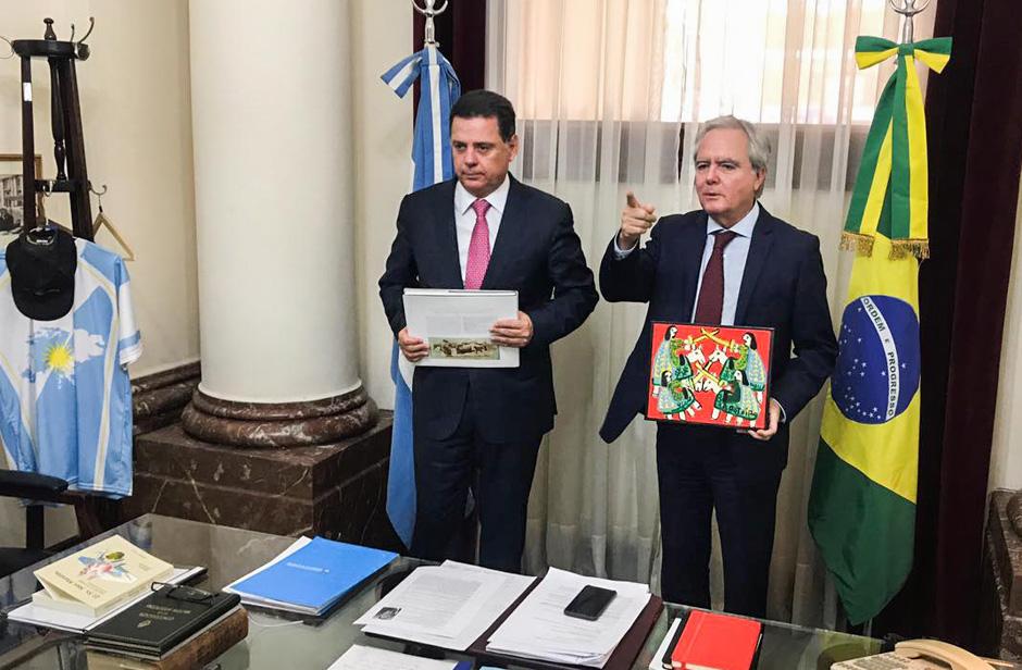 Marconi é recebido pelo presidente do Senado da Argentina
