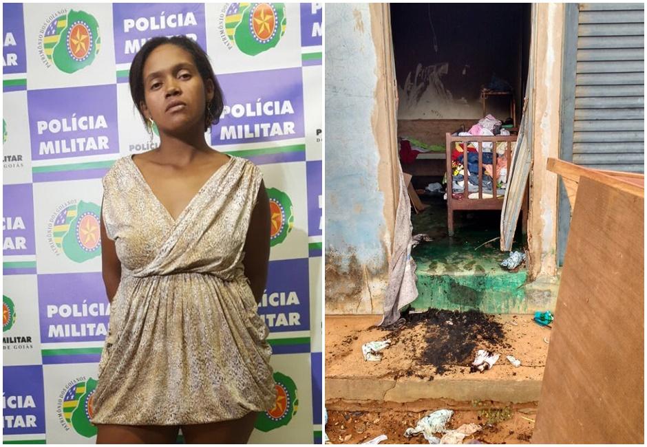 Após brigar com marido, mulher coloca fogo em casa com os três filhos dentro, em Perolândia (GO)
