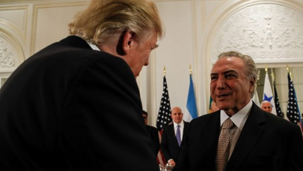 Brasil faz o possível para ajudar a Venezuela, diz Temer após jantar com Trump