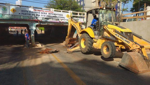 Obras no viaduto da Avenida H começam hoje