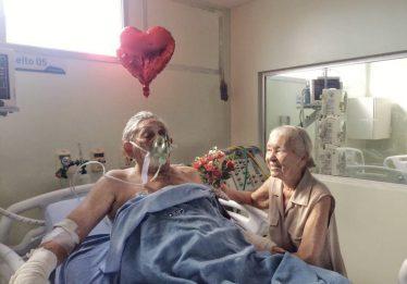 Morre idosa que recebeu surpresa do esposo internado na UTI