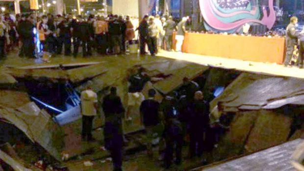 Camarote desaba em show de Ivete Sangalo e deixa feridos, em Aracaju