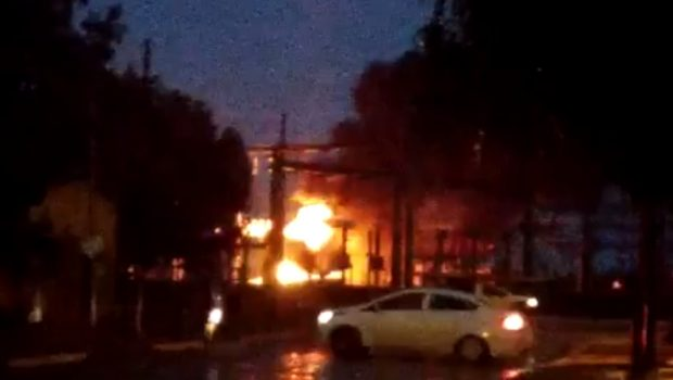 Incêndio provocado por raio causa apagão em Luziânia e Cristalina