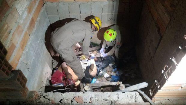 Estado de saúde de idoso resgatado em fosso em Rio Quente é regular