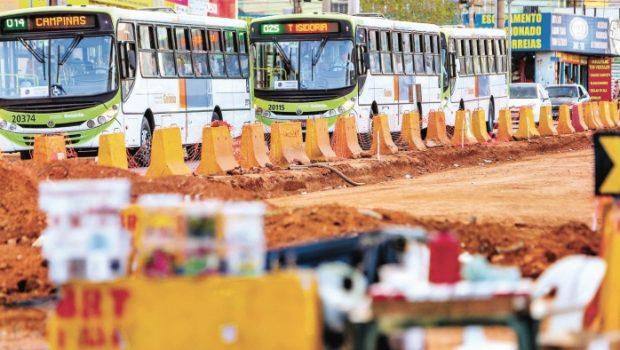 Obras inacabadas da capital prejudicam a mobilidade urbana