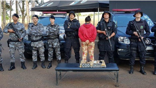 Mulher é presa por tráfico internacional de drogas em Cachoeira Alta
