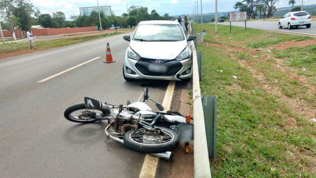 Motociclista morre em colisão com carro na GO-020