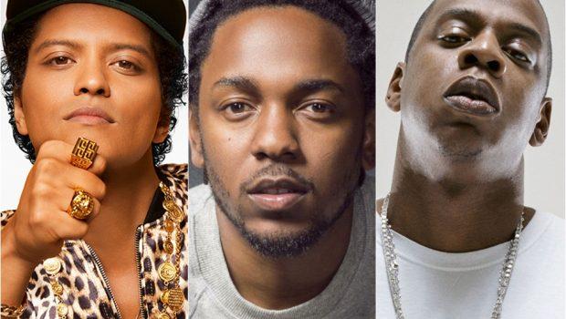 Bruno Mars, Kendrick Lamar e Jay-Z lideram indicações para o Grammy Awards 2018