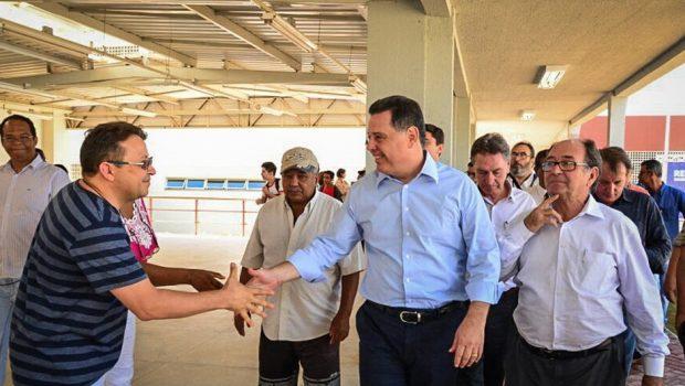 Marconi inaugura Itego de Santo Antônio do Descoberto com discurso de otimismo aos prefeitos