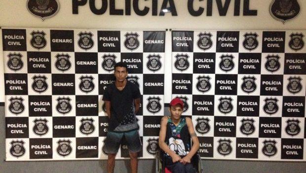 Cadeirante e comparsa são presos por tráfico de drogas em Goianésia