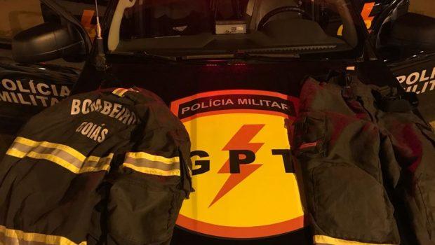 Dupla é presa suspeita de furtar uniformes do Corpo de Bombeiros, em Águas Lindas