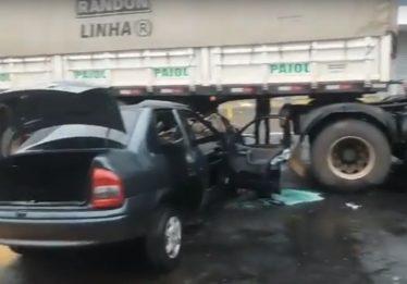 Motorista fica gravemente ferido após se envolver em acidente na Avenida 85 com a T-55