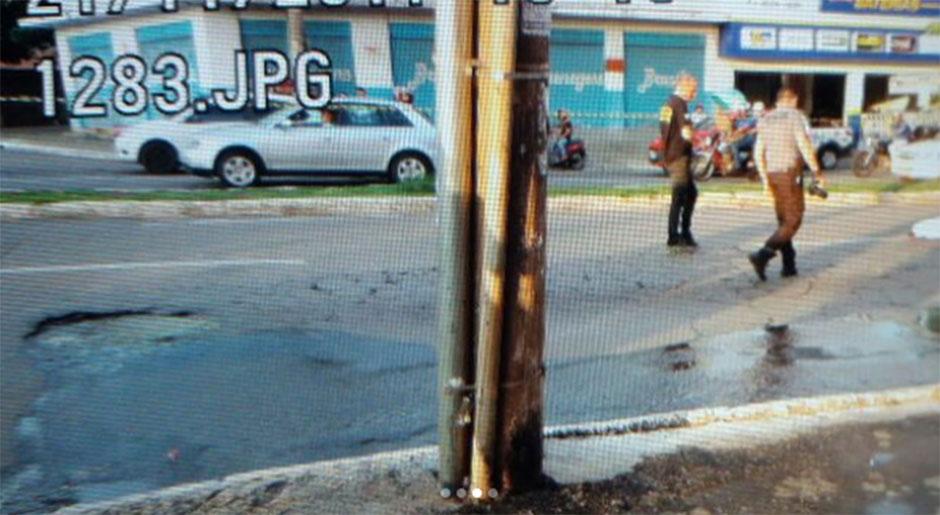 Bueiro onde ocorreu o acidente (Foto: Divulgação)
