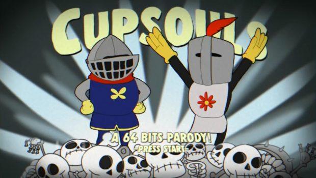 Animação recria Dark Souls com o visual de Cuphead