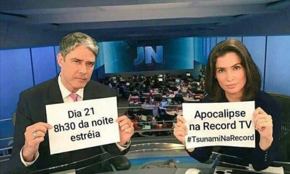 Sergio Marone usa meme de William Bonner para anunciar novela da Record TV