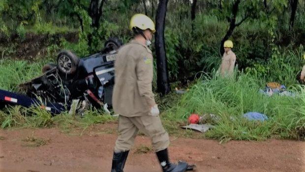 Três pessoas morrem em acidente na BR-153, em Uruaçu