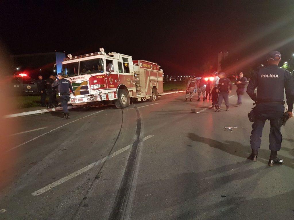 Bombeiro furta caminhão e tenta chegar à Esplanada dos Ministérios