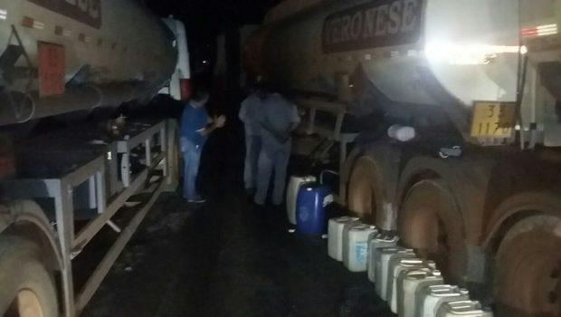 Dois homens são presos em operação da PC após desviar carga de combustíveis, em Alexânia