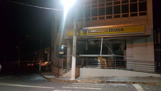 Banco do Brasil de Ipameri fica destruído após ação de criminosos