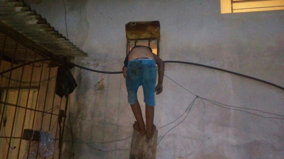 Criminoso fica entalado durante fuga em Porangatu