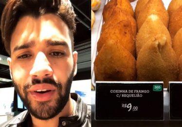 Marca responde Gusttavo Lima sobre preço da coxinha no aeroporto