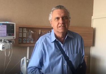 Caiado recebe alta e agradece o apoio dos goianos nas redes sociais