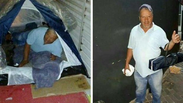 """Policiais Civis fazem """"vaquinha"""" para ajudar morador de rua em Anápolis"""