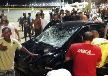 Motorista perde controle e atropela diversas pessoas em Copacabana, no Rio de Janeiro