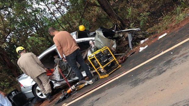 Acidente deixa quatro pessoas feridas na GO-060, entre Turvânia e Firminópolis