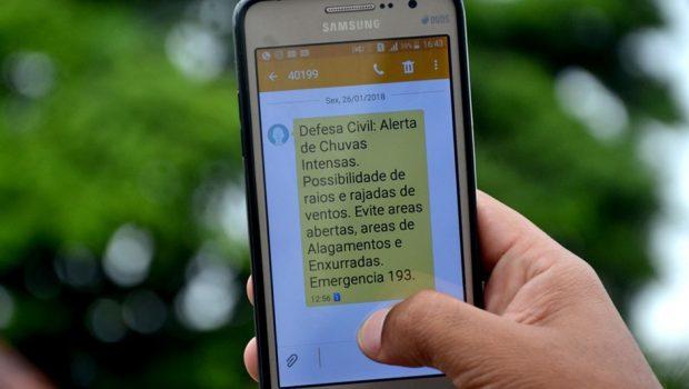 Moradores de Aparecida passam a receber alerta de desastres naturais da Defesa Civil