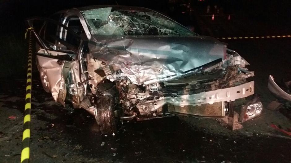 Acidente mata três pessoas e deixa quatro feridos na BR-153, em Rialma