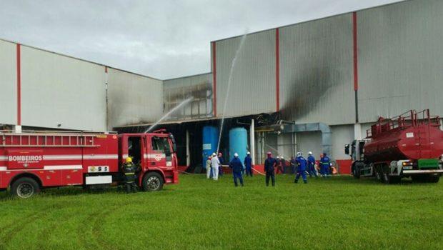 Incêndio atinge fábrica da BRF, em Rio Verde