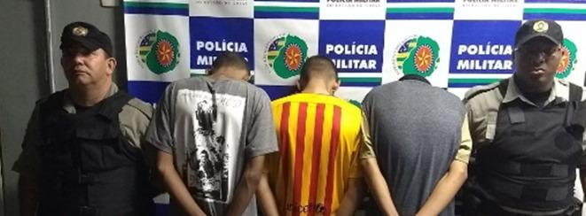 Três menores são apreendidos após roubou em pizzaria, em Goiânia