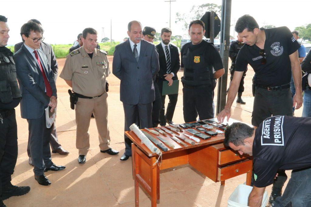 Inspeção no semiaberto detecta 31 armas escondidas na estrutura do presídio