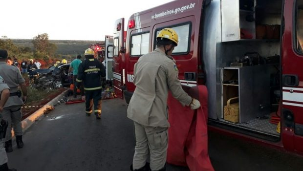 Acidente deixa cinco pessoas feridas na GO-534, em Planaltina de Goiás