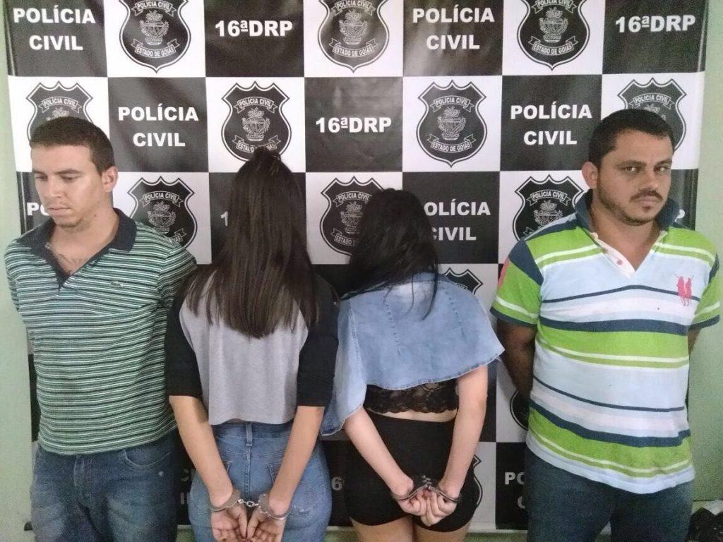 Em Ceres, jovens são presos com armas importadas e drogas vindas do Paraguai