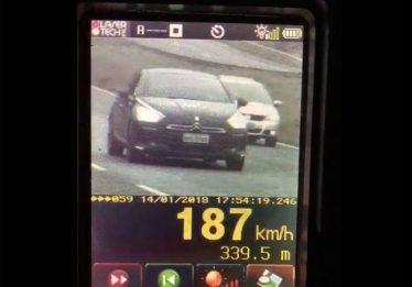 PRF flagra motorista a 187 km/h na BR-060 no final de semana