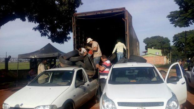 Ação contra o Aedes em Goiânia já recolheu mais de 4 mil pneus usados