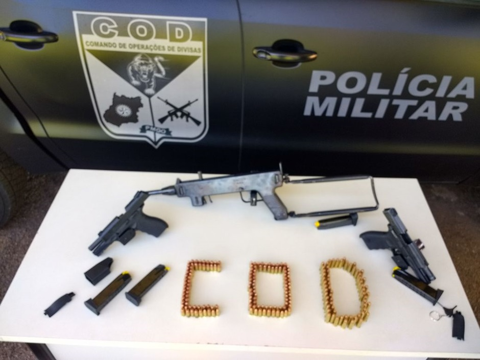 Mulher é presa com mais de trezentas munições, próximo à Cachoeira Alta (GO)