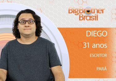 Diego, quarto participante do 'BBB18', faz o tipo 'intelectual' da edição