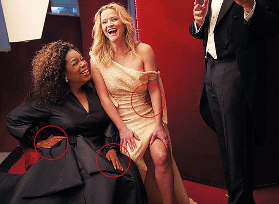Erro em edição deixa Oprah Winfrey com três mãos em foto de revista