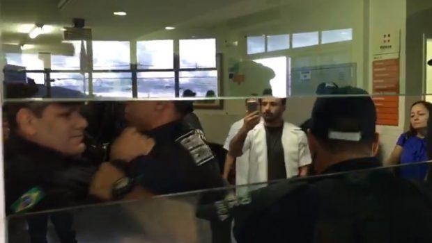 Após confusão, vigilantes expulsam agente prisional de Hospital em Anápolis