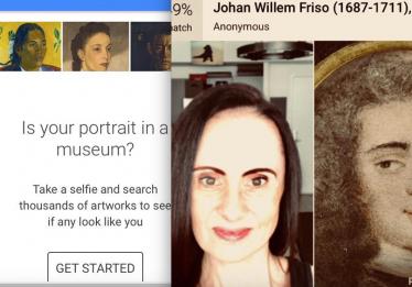 Aplicativo do Google encontra sua sósia no mundo da arte