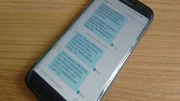 SMS alertará desastres naturais aos goianos a partir da próxima semana