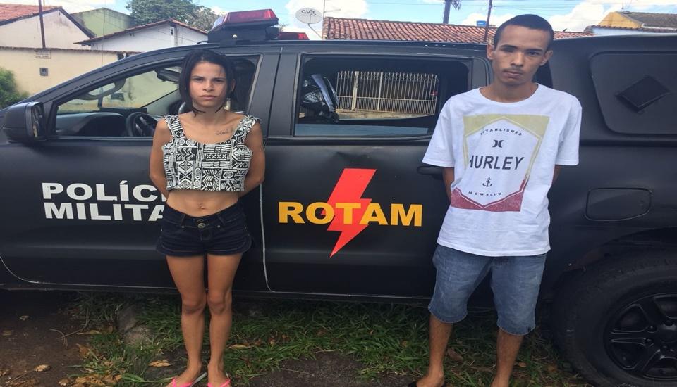 Casal de ladrões de carros é preso pela Rotam