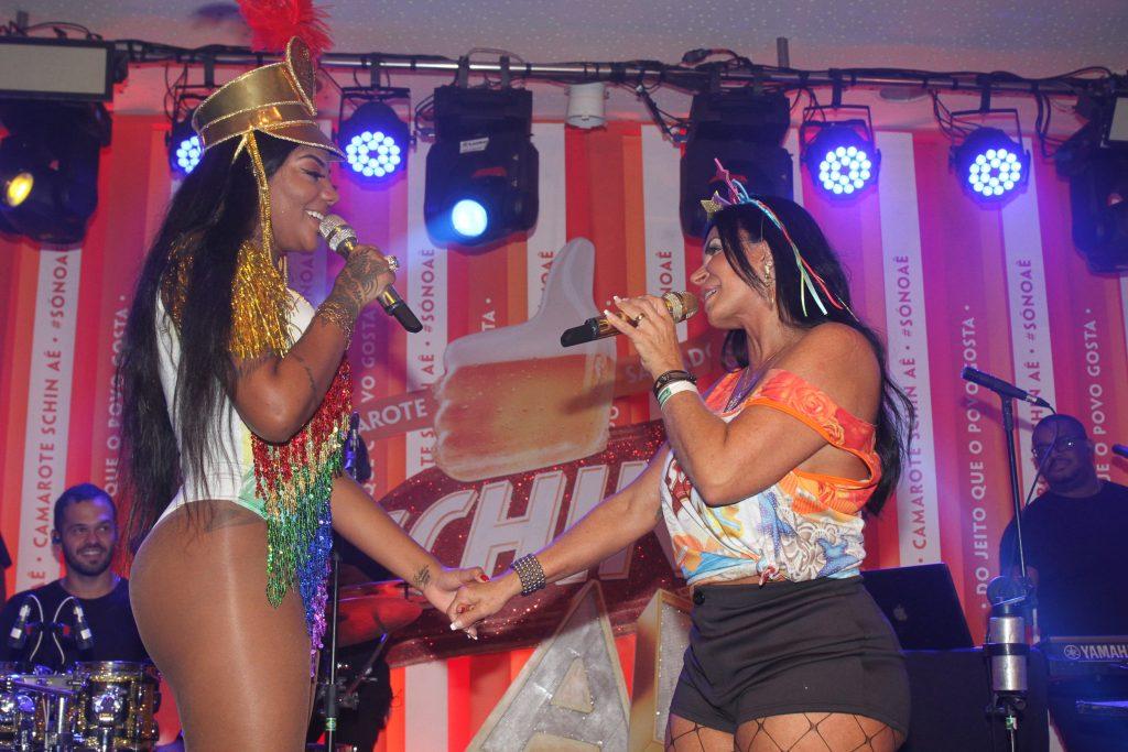Ludmilla e Gretchen se apresentam juntas em camarote do Carnaval de Salvador