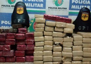 Polícia Militar apreende 100 quilos de maconha em casa abandonada, em Formosa